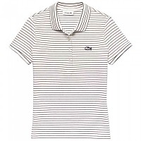 [해외]라코스테 Slim Fit Striped Stretch White / Navy Blue