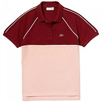 [해외]라코스테 Classic Fit Colorblock Burgundy / Pale Pink / White