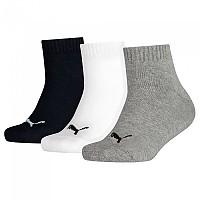 [해외]푸마 언더웨어 Quarter 3 Pack Grey / White / Black