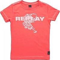 [해외]리플레이 Garment Dyed Light Open End Jersey Girl Coral Red