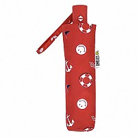 [해외]SMILEY By the Sea Foldable Umbrella Red