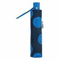 [해외]SMILEY Dots Foldable Umbrella Blue