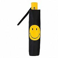 [해외]SMILEY Plain with Smiley Foldable Umbrella Black / Yellow