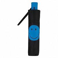 [해외]SMILEY Plain with Smiley Foldable Umbrella Black / Blue
