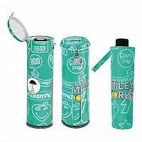 [해외]SMILEY World Foldable Umbrella Green