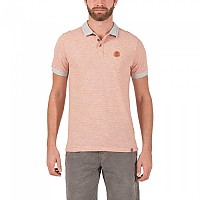 [해외]TIMEZONE Jaquard Stripe Poloshirt Neon Orange
