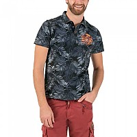 [해외]TIMEZONE Washed Hawaii Poloshirt Blue Jungle