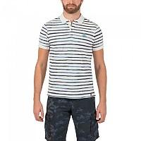 [해외]TIMEZONE Watercolour Stripe Poloshirt Ecru White