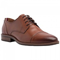 [해외]타미힐피거 Essential Leather Toecap Lace Up Winter Cognac