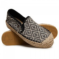 [해외]슈퍼드라이 Polly Flat Form Espadrille Black Tribal Jacquard