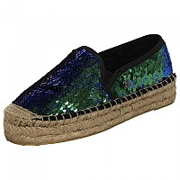 [해외]슈퍼드라이 Polly Flat Form Espadrille Iridescent Green Sequin