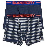 [해외]슈퍼드라이 Sport Boxer Double Pack Navy Marl / Polo Stripe Nvy Marl