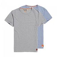 [해외]슈퍼드라이 Sd Laundry Slim Fit 2Pk Lounge Blue Feeder / Lounge Grey Marl