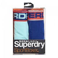 [해외]슈퍼드라이 Sport Boxer Double Pack Bright Mint / Lay Up Blue