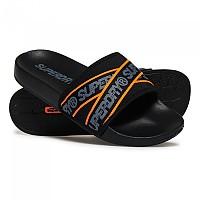 [해외]슈퍼드라이 City Beach Slide Black / Charcoal / Hazard Orange