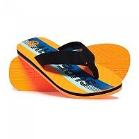 [해외]슈퍼드라이 Trophy 2.0 Flip Flop Black / Hazard Orange / Light Blue