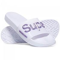 [해외]슈퍼드라이 슈퍼드라이 Luxe Jelly Pool Slide Optic White / Metallic Purple