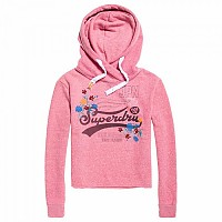 [해외]슈퍼드라이 High Flyers Floral College Crop Hood Pink Lemonade Snowy