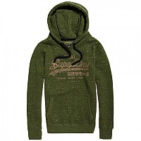 [해외]슈퍼드라이 Vintage Logo Rhinestone Mix Hood Washed Khaki Heathered