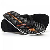 [해외]슈퍼드라이 International Flip Flop Black Mono Linear Marble / Hazard Orange