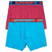 [해외]슈퍼드라이 Sport Boxer Double Pack Florida Pink Grit / Beach Blue