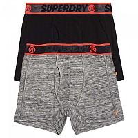 [해외]슈퍼드라이 Sport Boxer Double Pack Flint Grey Grit/Black