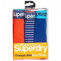 [해외]슈퍼드라이 Sport Trunk Triple Pack Lay Up Blue / Lay Up Blue Stripe / Sunset Orange