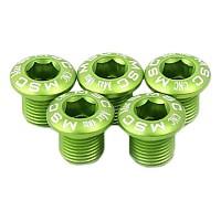 [해외]MSC Chainring Bolts Kit Alu7075T6 5 Units Green