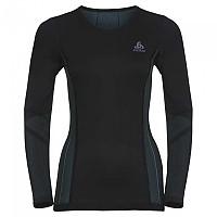 [해외]오들로 Performance Windshield Cycling T-Shirt L/S Crew Neck Black / Blue Radiance