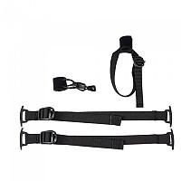 [해외]오르트립 Set of 2 compression Straps and a trekking Pole Holder for Gear-Pack Black