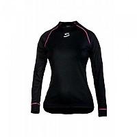 [해외]스피욱 Anatomic Women T-shirt Long Sleeves Black / Fuchsia High Visibility