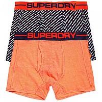 [해외]슈퍼드라이 Sport Boxer Double Pack Fluro Orange Feeder / 슈퍼드라이 Twill Aop