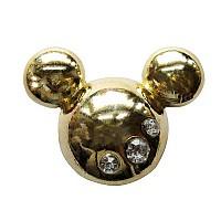 [해외]JIBBITZ Metal Mickey Head Gold
