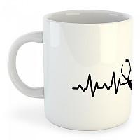 [해외]KRUSKIS Mug Spearfishing Heartbeat 325ml White