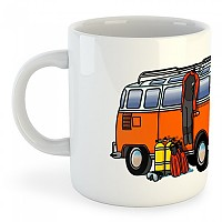 [해외]KRUSKIS Mug Hippie Van Dive White