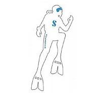 [해외]SCUBAPRO Diver White Sticker