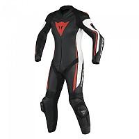 [해외]다이네즈 Assen 1pc Perforated Lady Suit Black / White / Red Fluo