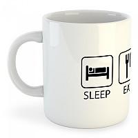 [해외]KRUSKIS Mug Sleep Eat And 라이드 White