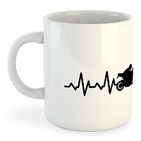 [해외]KRUSKIS Mug Motorbike Heartbeat 325ml 136887426 White