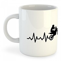 [해외]KRUSKIS Mug 오프 로드 Heartbeat White