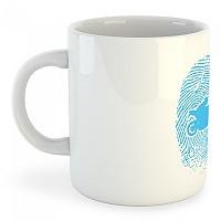 [해외]KRUSKIS Mug Motorbiker Fingerprint 137039771 White