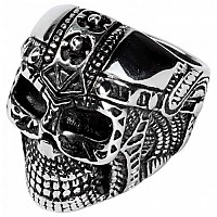 [해외]SPIRIT MOTORS Stainless Steel Ring With Skull 1.0 Silver