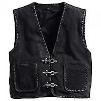 [해외]SPIRIT MOTORS Suede Vest 1 0 9136436447 Black