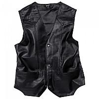 [해외]SPIRIT MOTORS Leather Vest 1 0 Buttoned 9136436441 Black