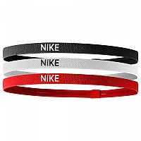 [해외]나이키 ACCESSORIES Elastic Hairbands Pack 3 Units Black / White / University Red