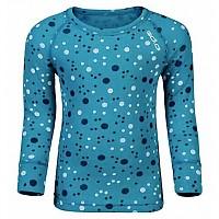 [해외]오들로 Shirt L/S Crew Neck Warm Trend Small Algiers Blue / Allover Print