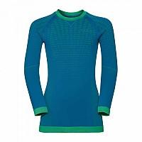 [해외]오들로 Evolution Warm Shirt L/S Crew Neck Mykonos Blue / Classic Green
