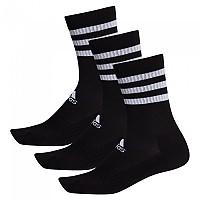 [해외]아디다스 3 Stripes Cushion Crew 3 Pair Black / Black / Black