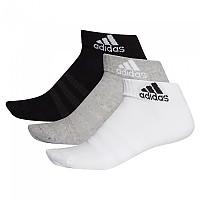 [해외]아디다스 Cushion Ankle 3 Pair Medium Grey Heathereather / White / Black