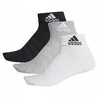 [해외]아디다스 Light Ankle 3 Pair Medium Grey Heathereather / White / Black